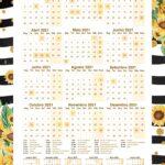 Planner Girassol Calendario 2021