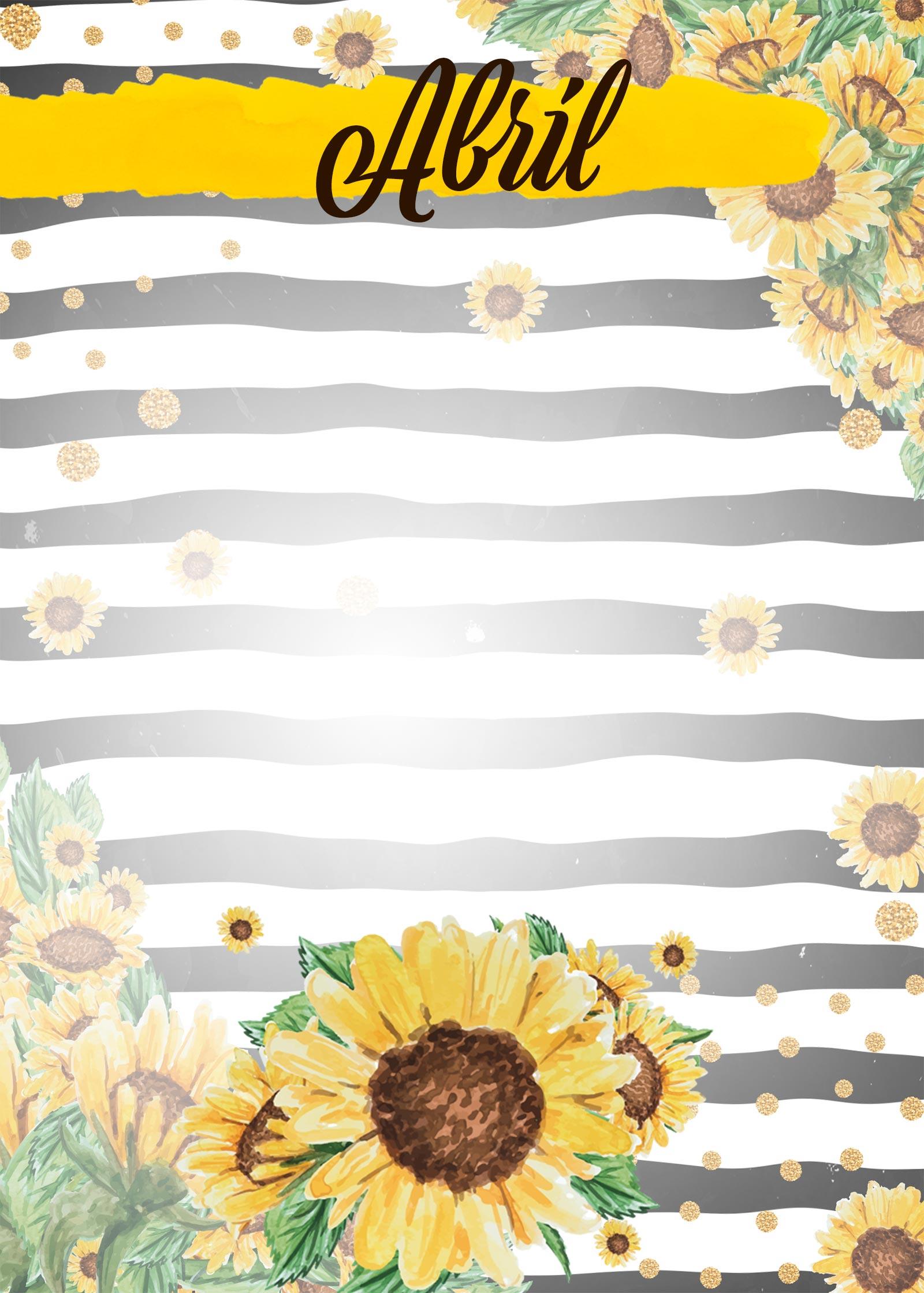 Planner Girassol capa abril