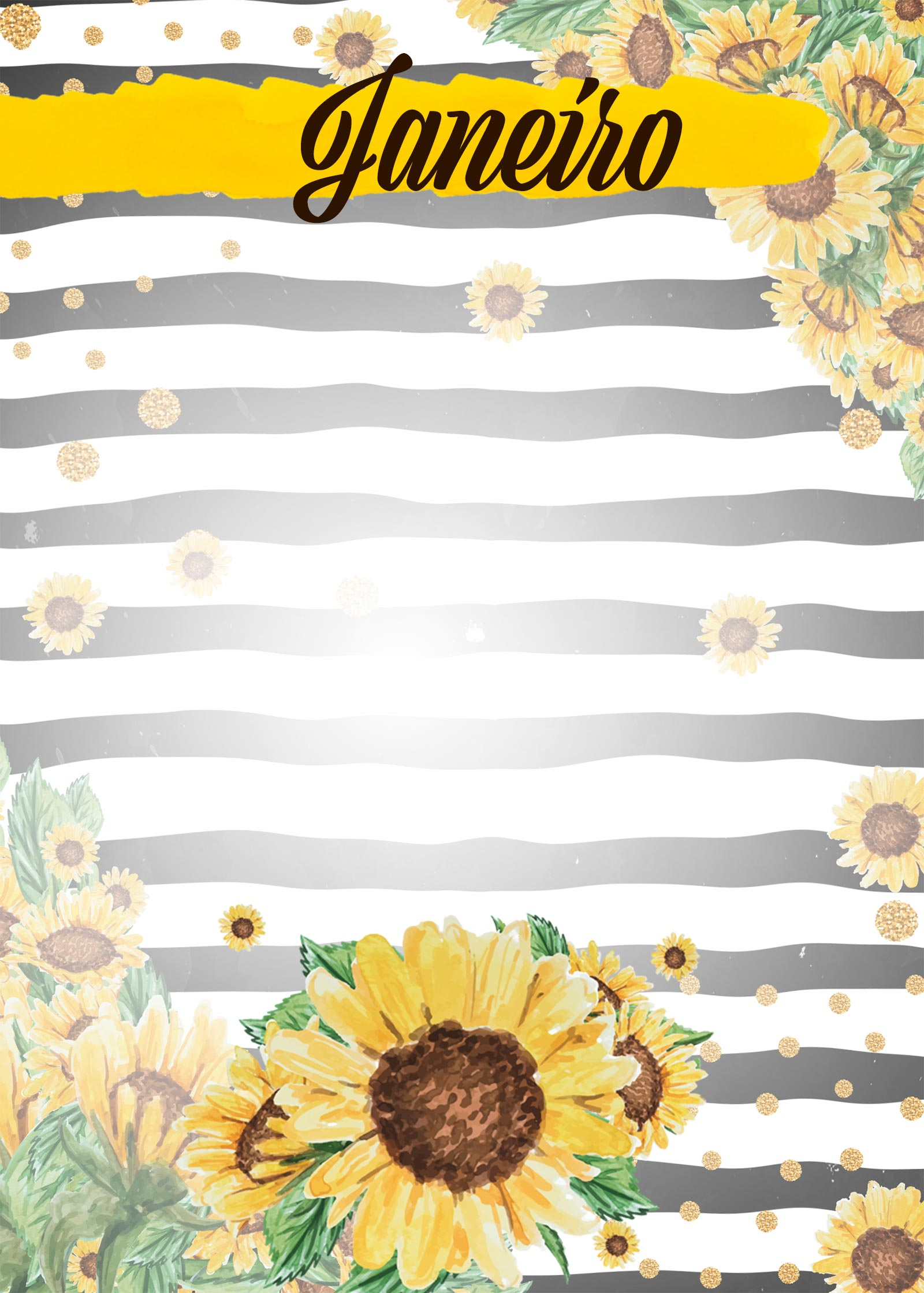 Planner Girassol capa janeiro