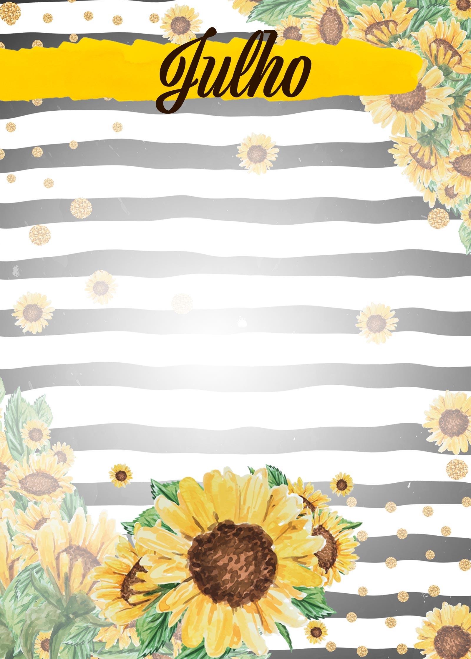 Planner Girassol capa julho