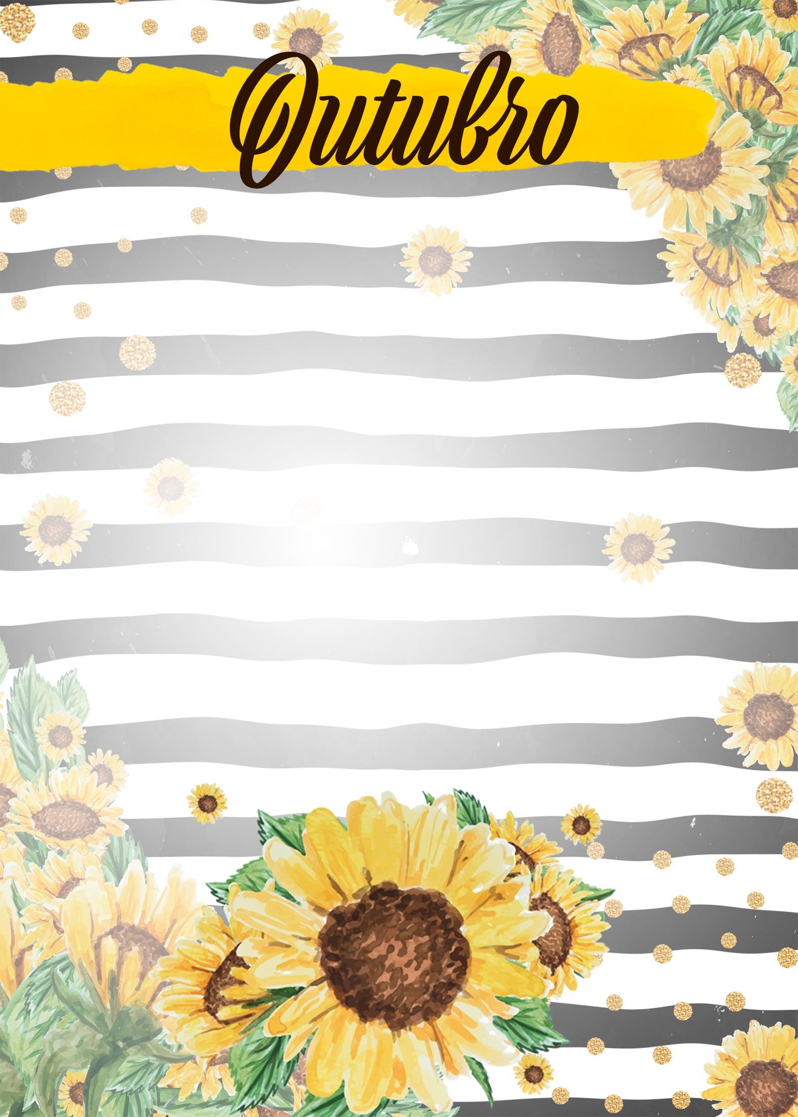Planner Girassol capa outubro