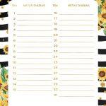 Planner Girassol metas diarias julho