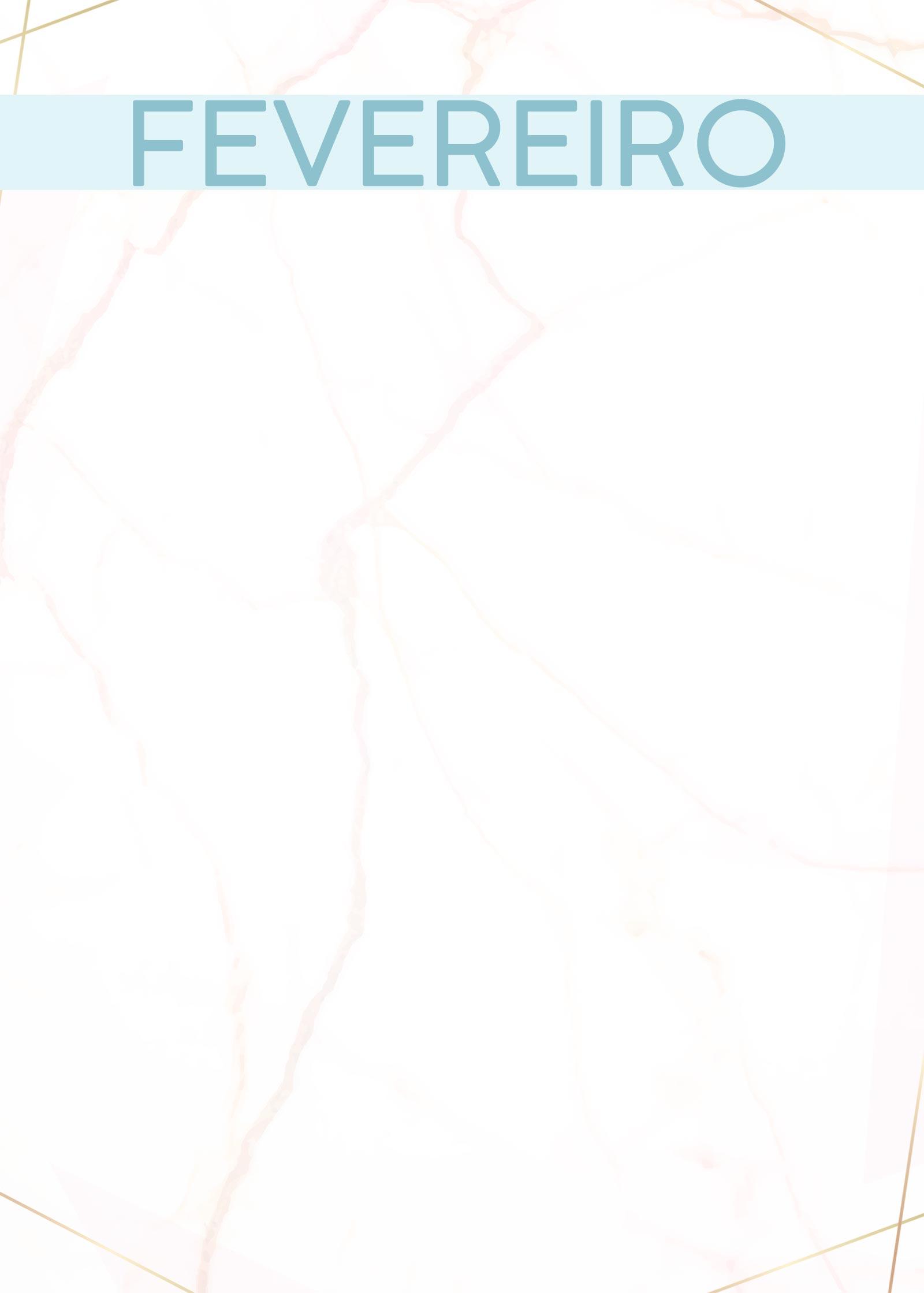 Planner Marmore capa fevereiro