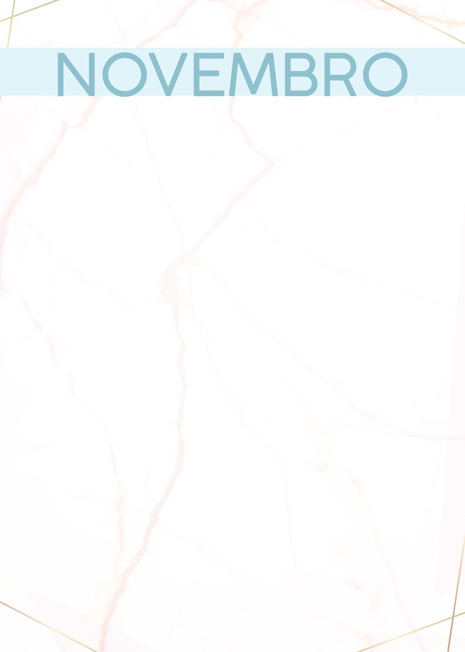 Planner Marmore capa novembro