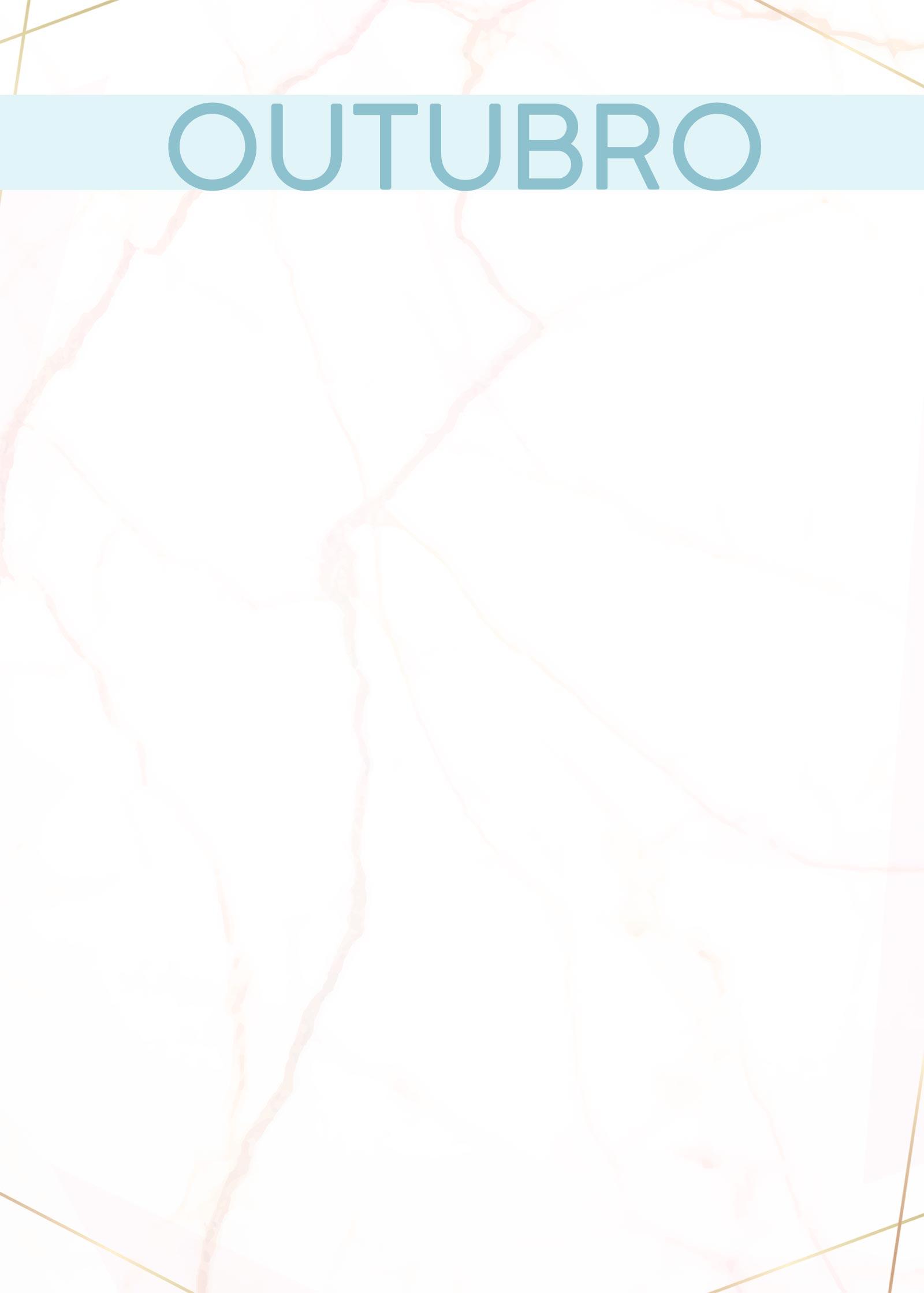 Planner Marmore capa outubro