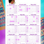 Planner Mulher Afro Calendario 2021 professor