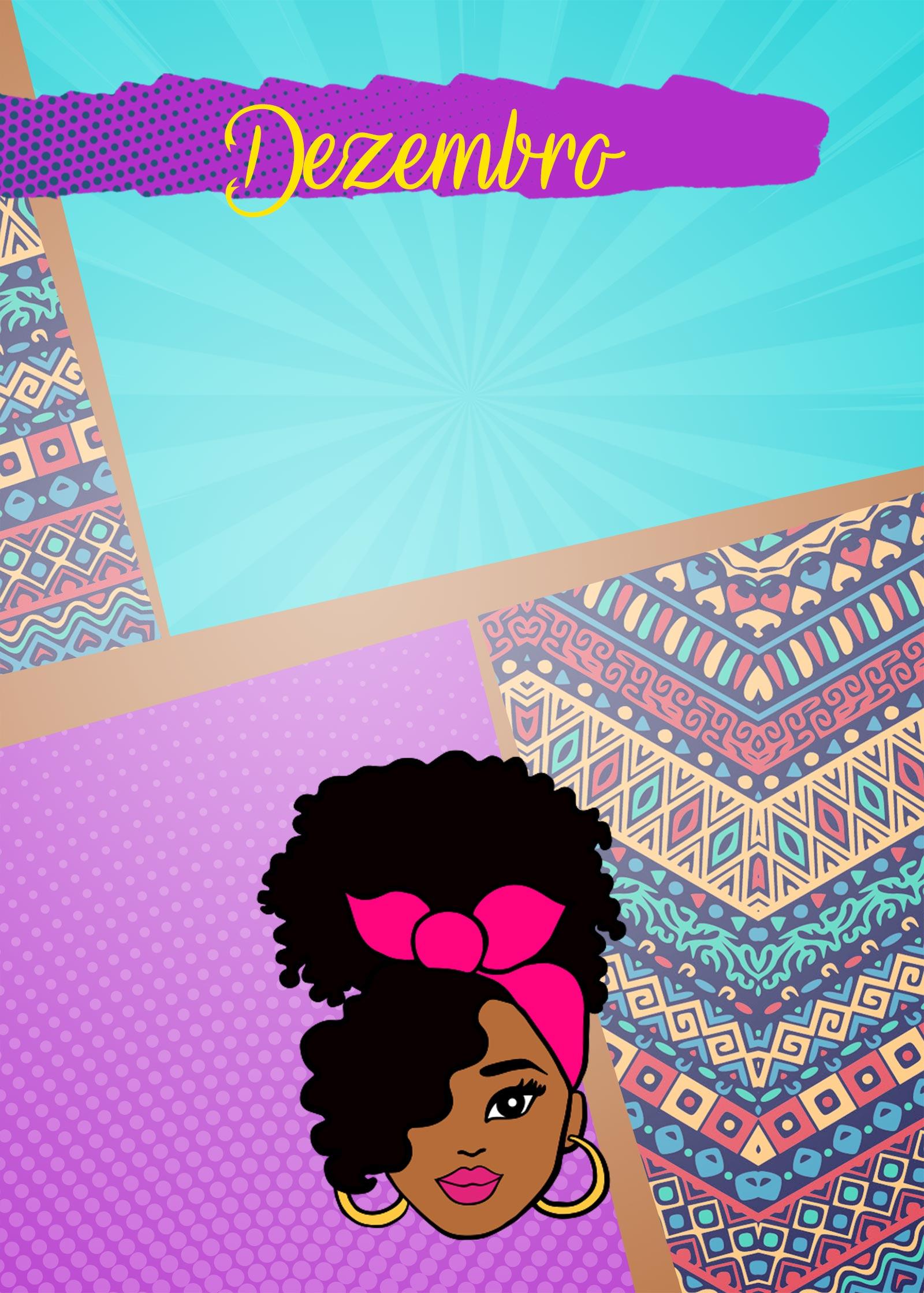 Planner Mulher Afro Capa Dezembro