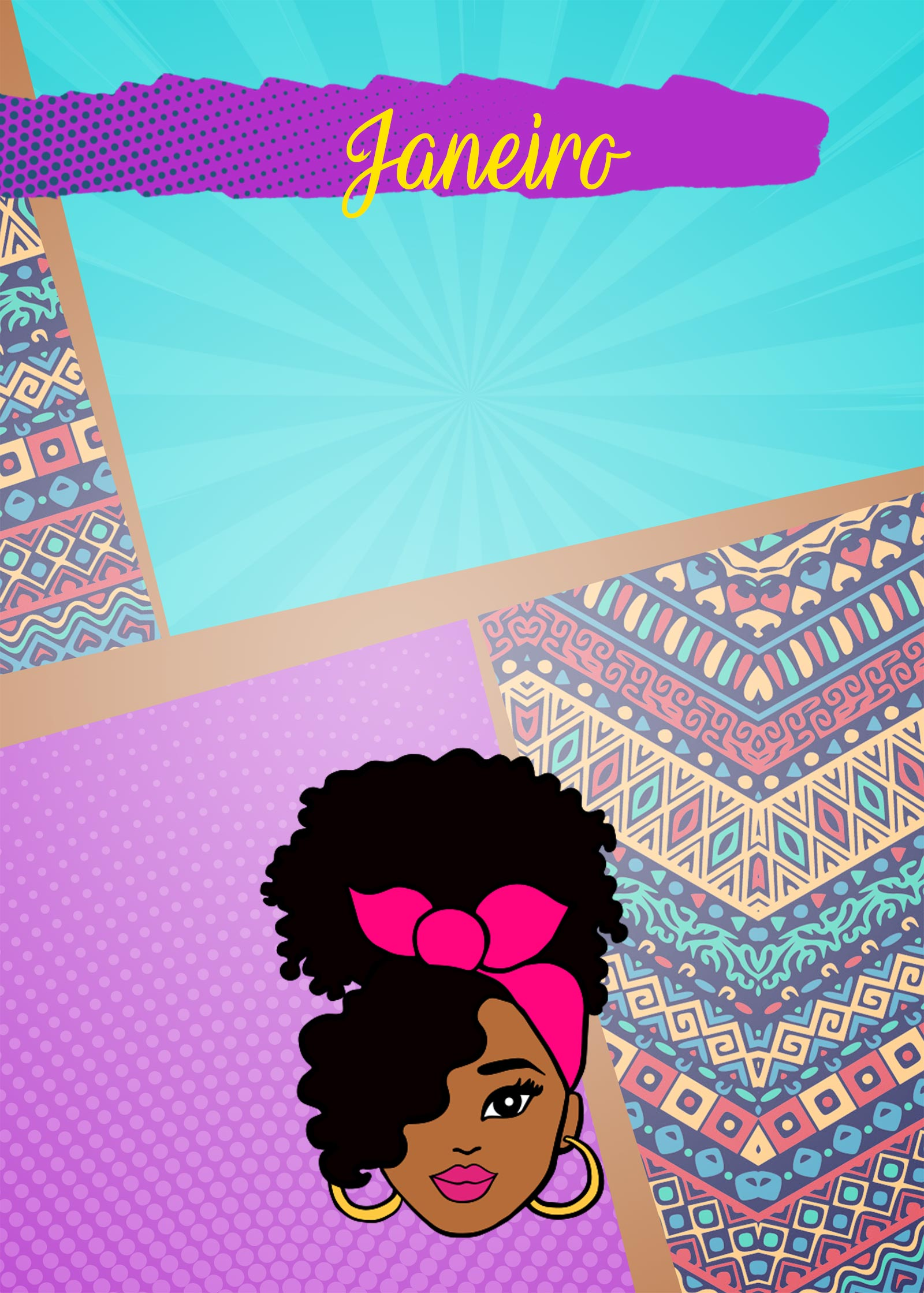 Planner Mulher Afro Capa Janeiro