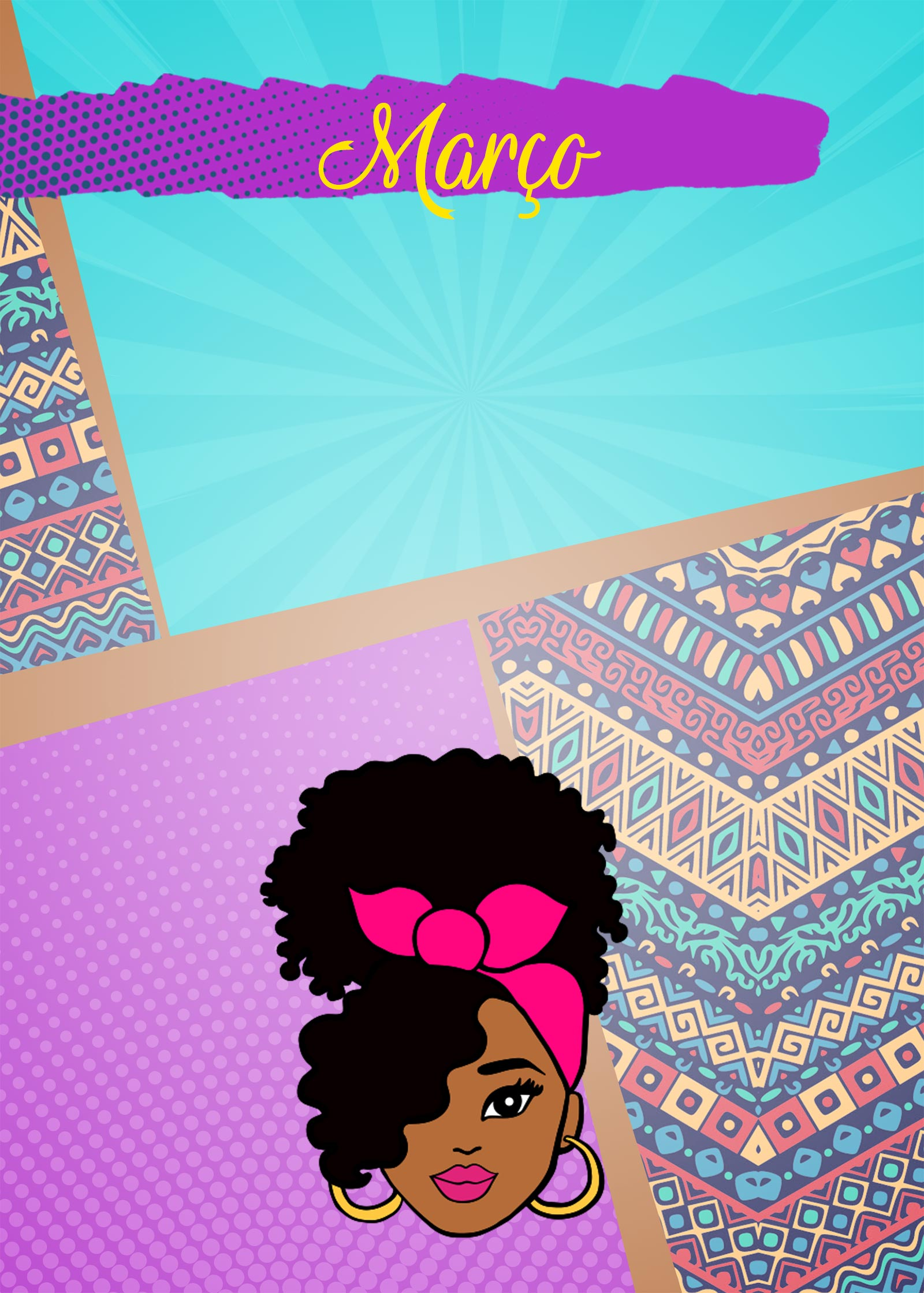 Planner Mulher Afro Capa Marco