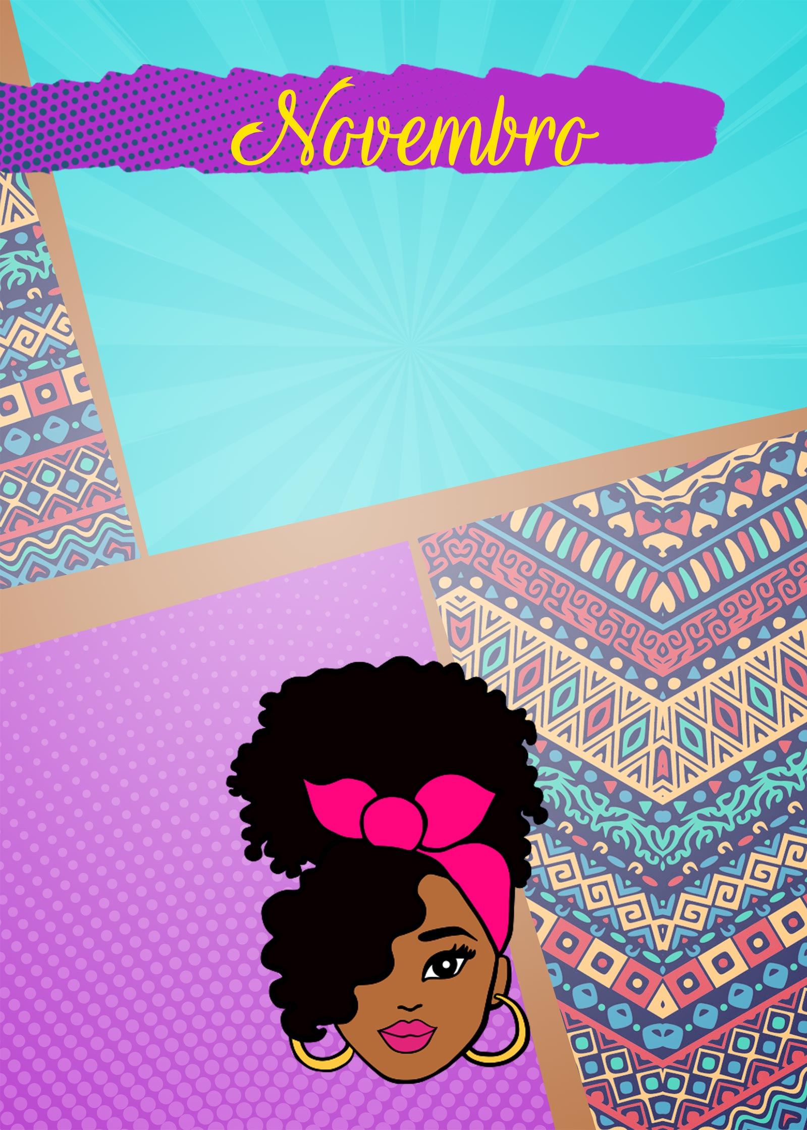 Planner Mulher Afro Capa Novembro