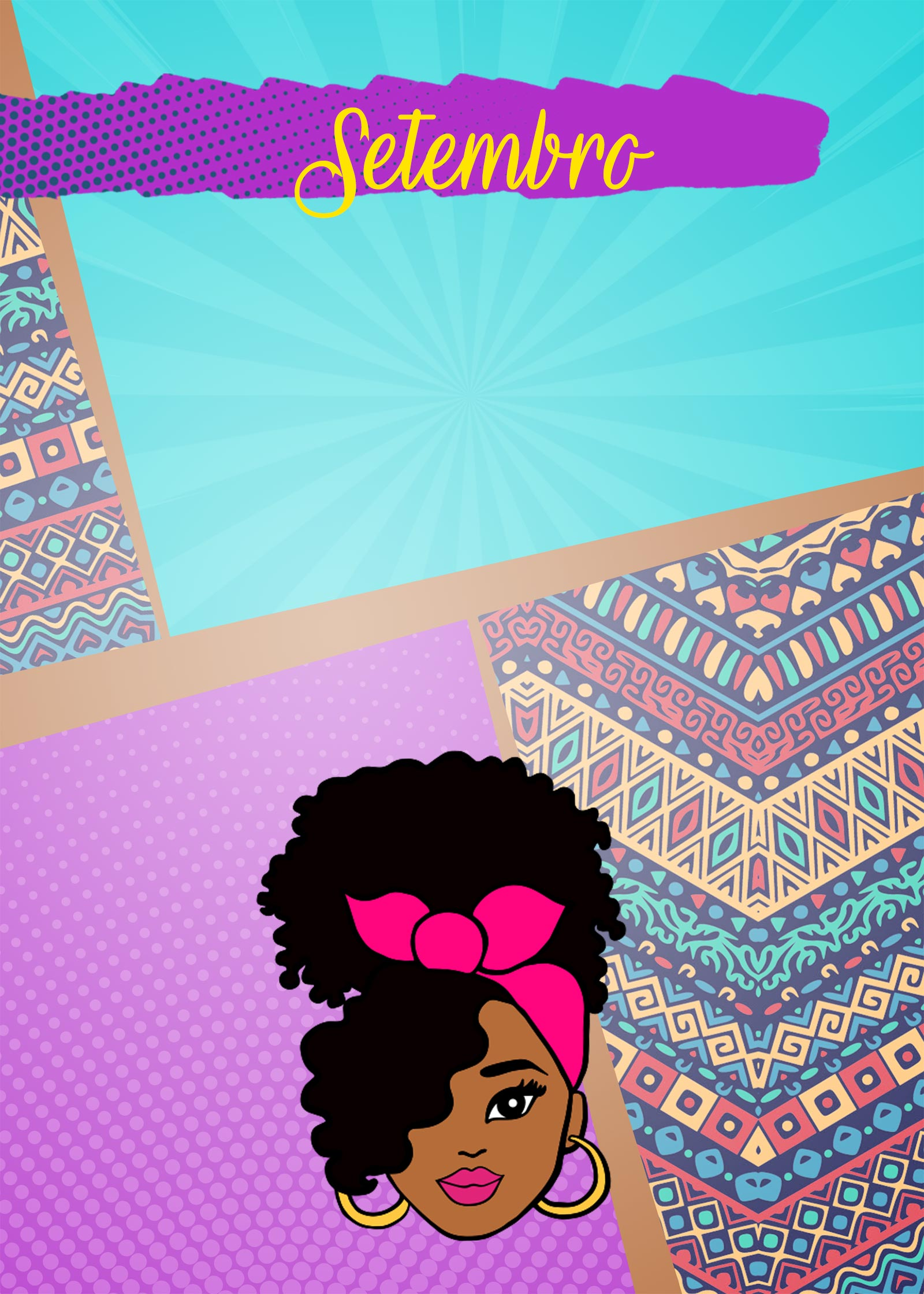 Planner Mulher Afro Capa Setembro