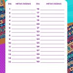 Planner Mulher Afro Metas diarias out