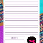 Planner Mulher Afro planner diario mulher afro