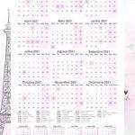 Planner Paris Calendario 2021