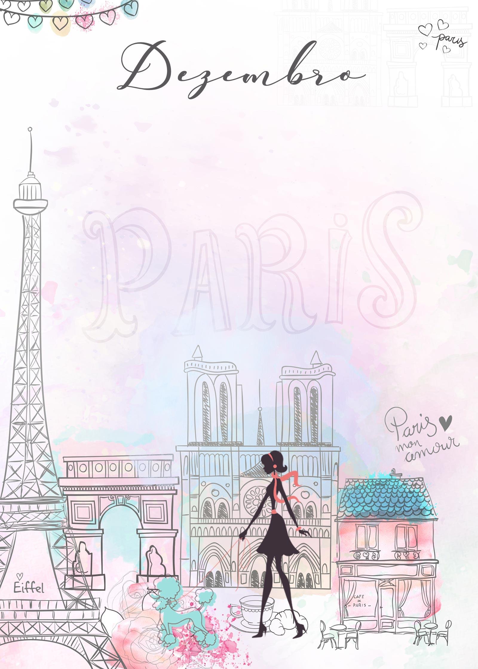 Planner Paris capa dezembro