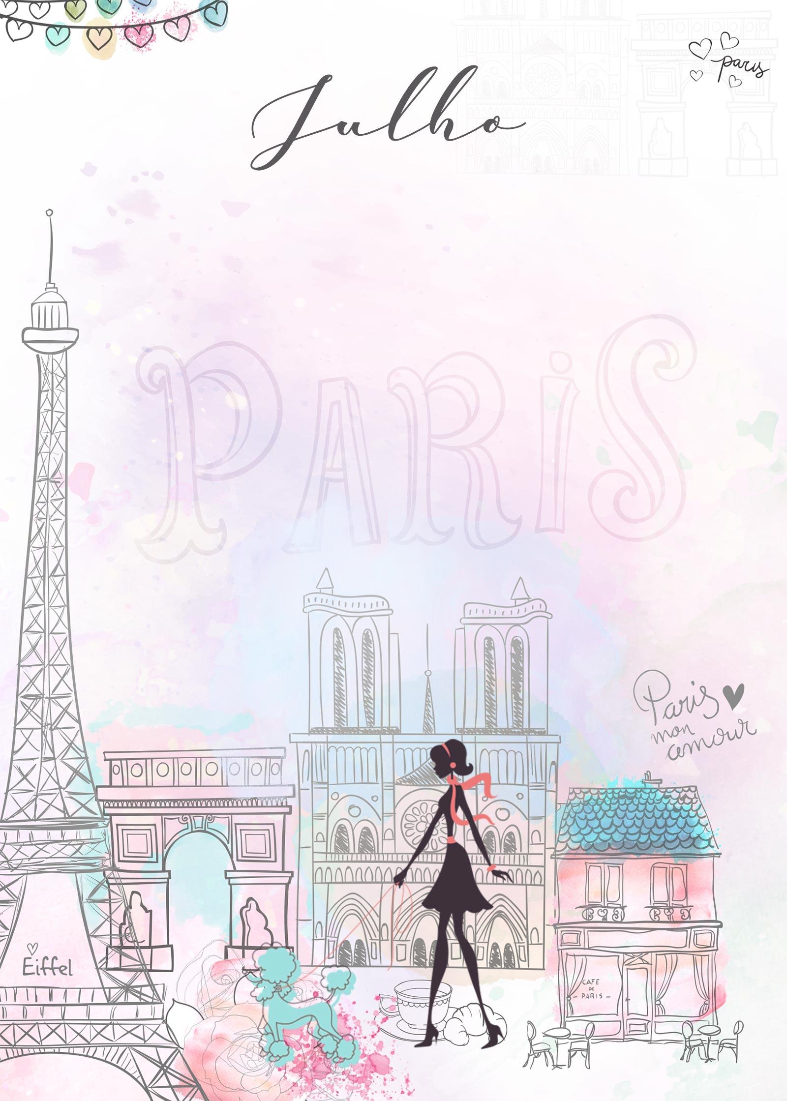 Planner Paris capa julho