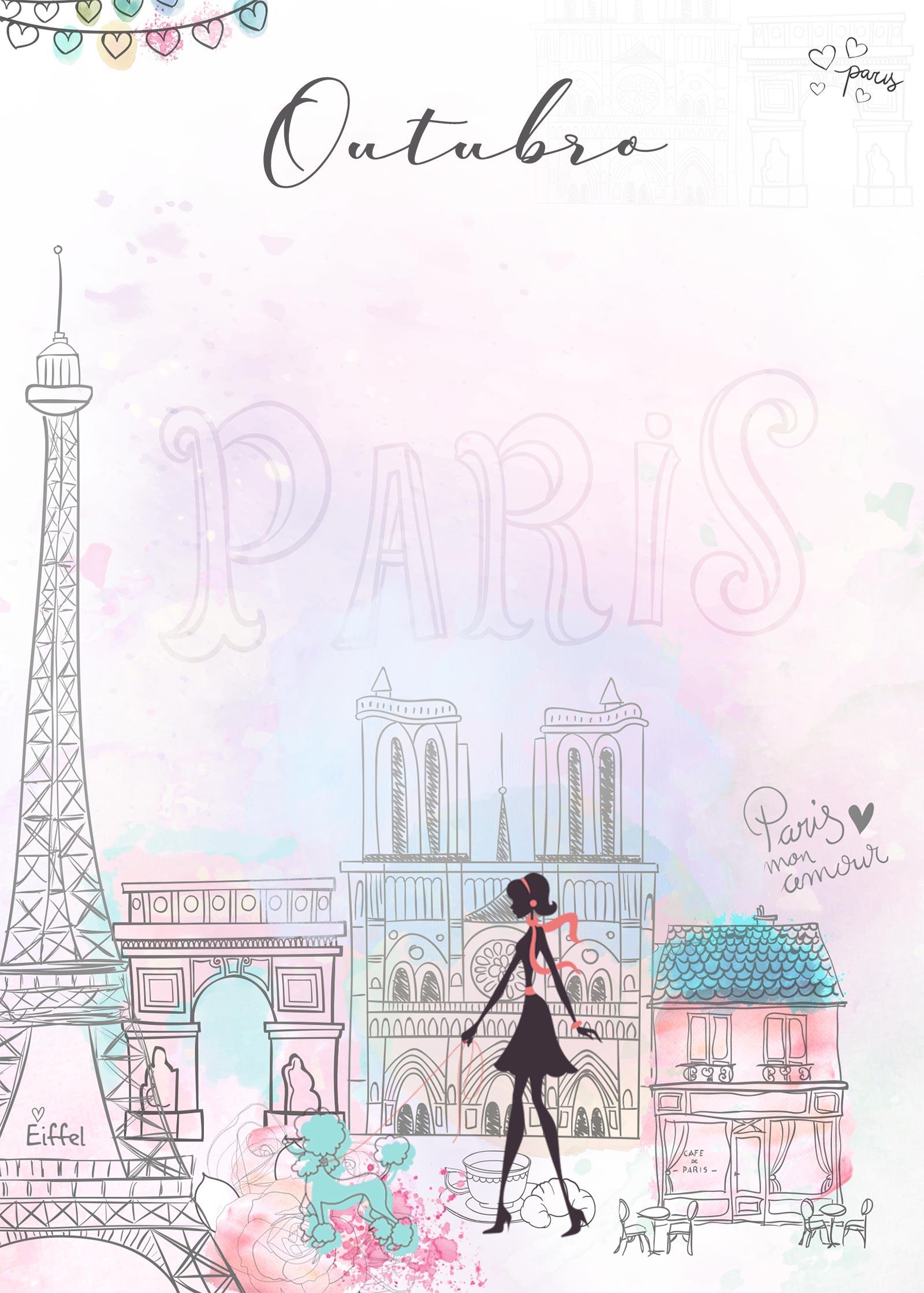 Planner Paris capa outubro