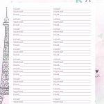 Planner Paris contatos