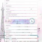 Planner Paris dados pessoais