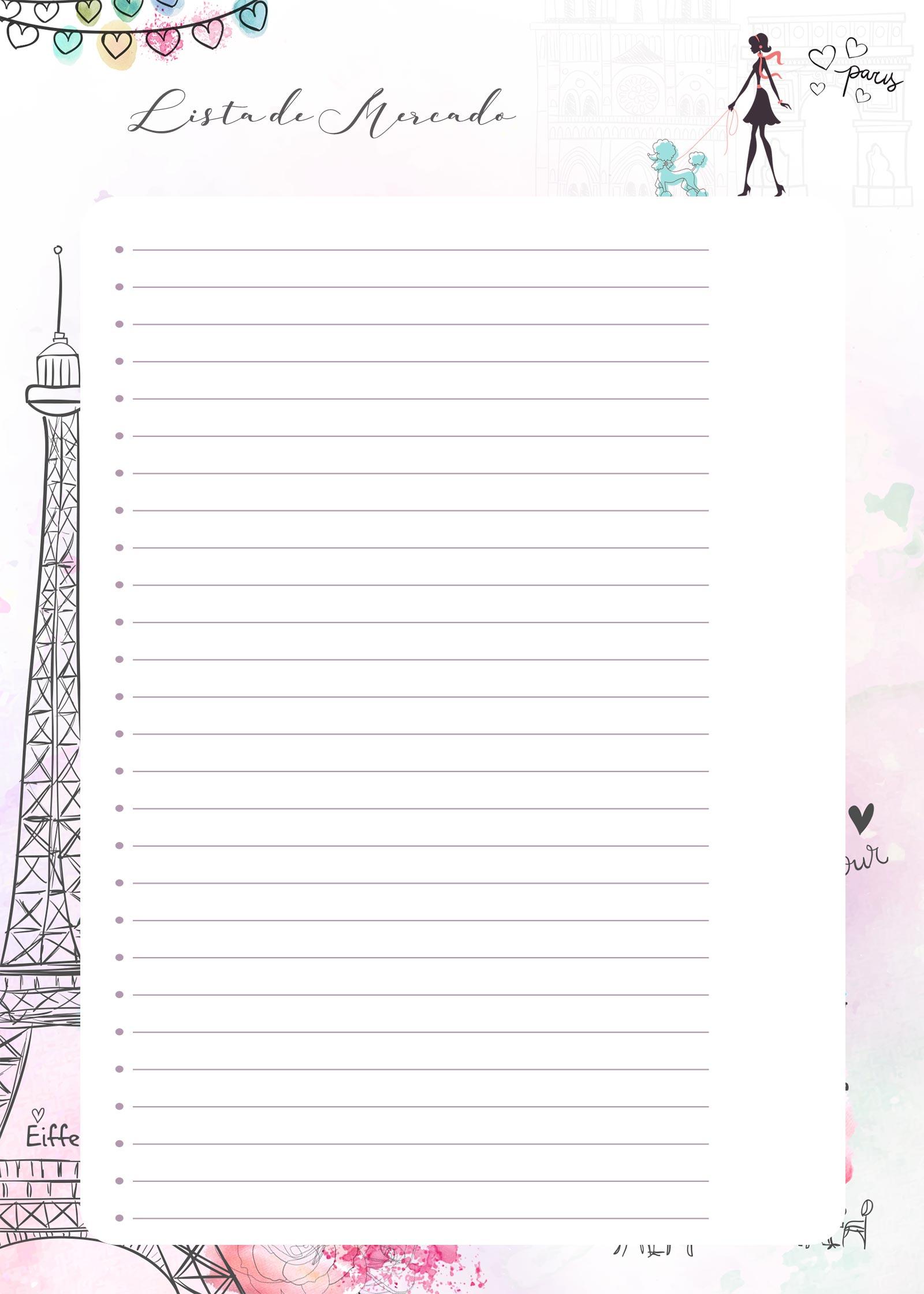 Planner Paris lista mercado