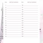 Planner Paris metas diarias abril