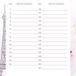Planner Paris metas diarias julho