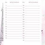 Planner Paris metas diarias setembro