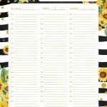 Planner Semanal Girassol 1