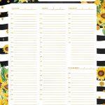 Planner Semanal Girassol 2