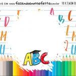 Plaquinha de Comida Formatura ABC