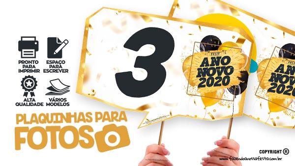 Plaquinhas Festa Ano Novo 2020 Gratis Para Imprimir