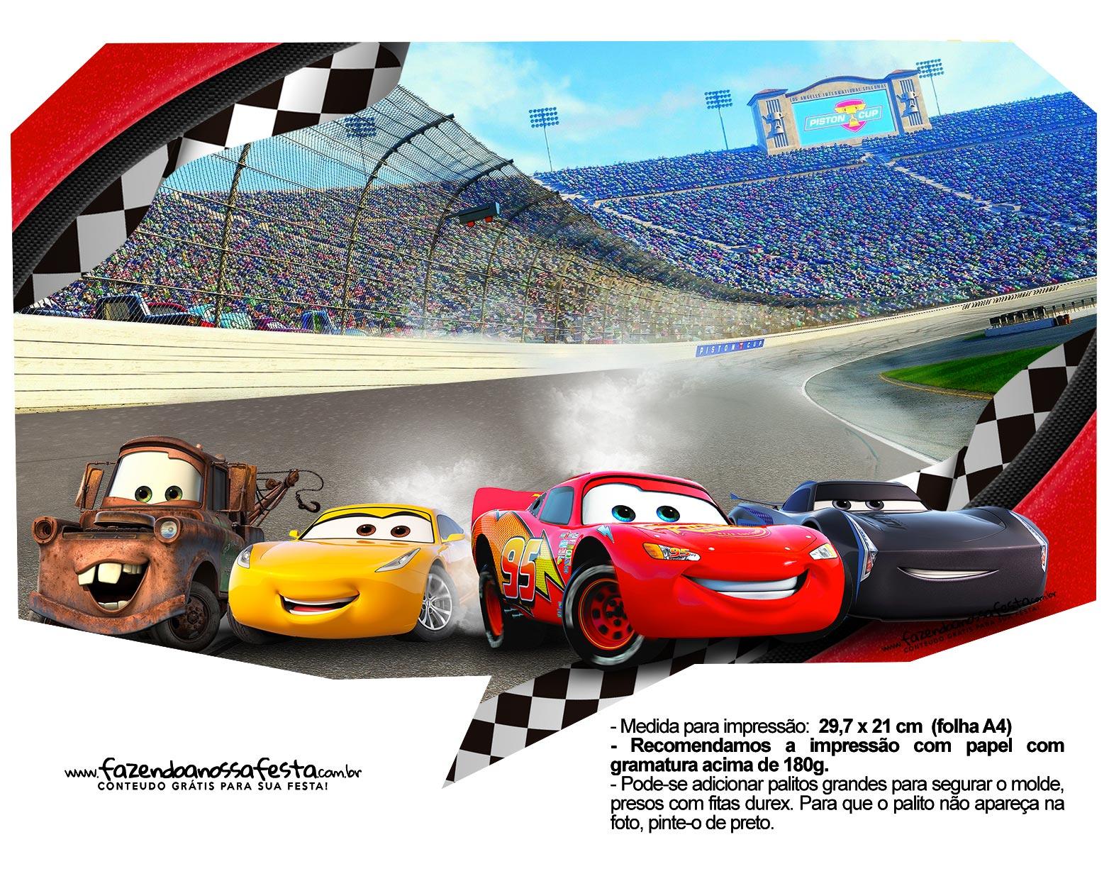Plaquinha divertida Carros 3 1