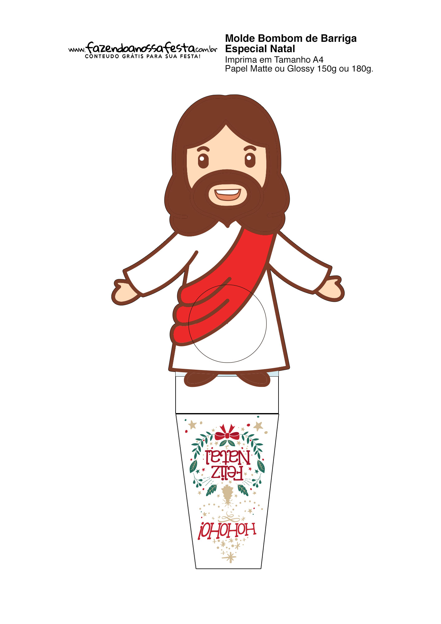 Porta bombom de Natal Cristao Jesus