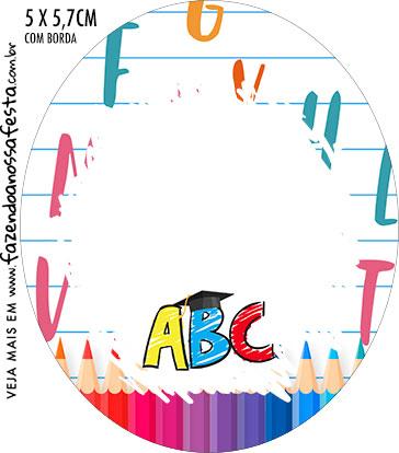 Rotulo Oval Kit Festa Formatura ABC