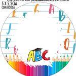 Rotulo Redondo Kit Festa Formatura ABC