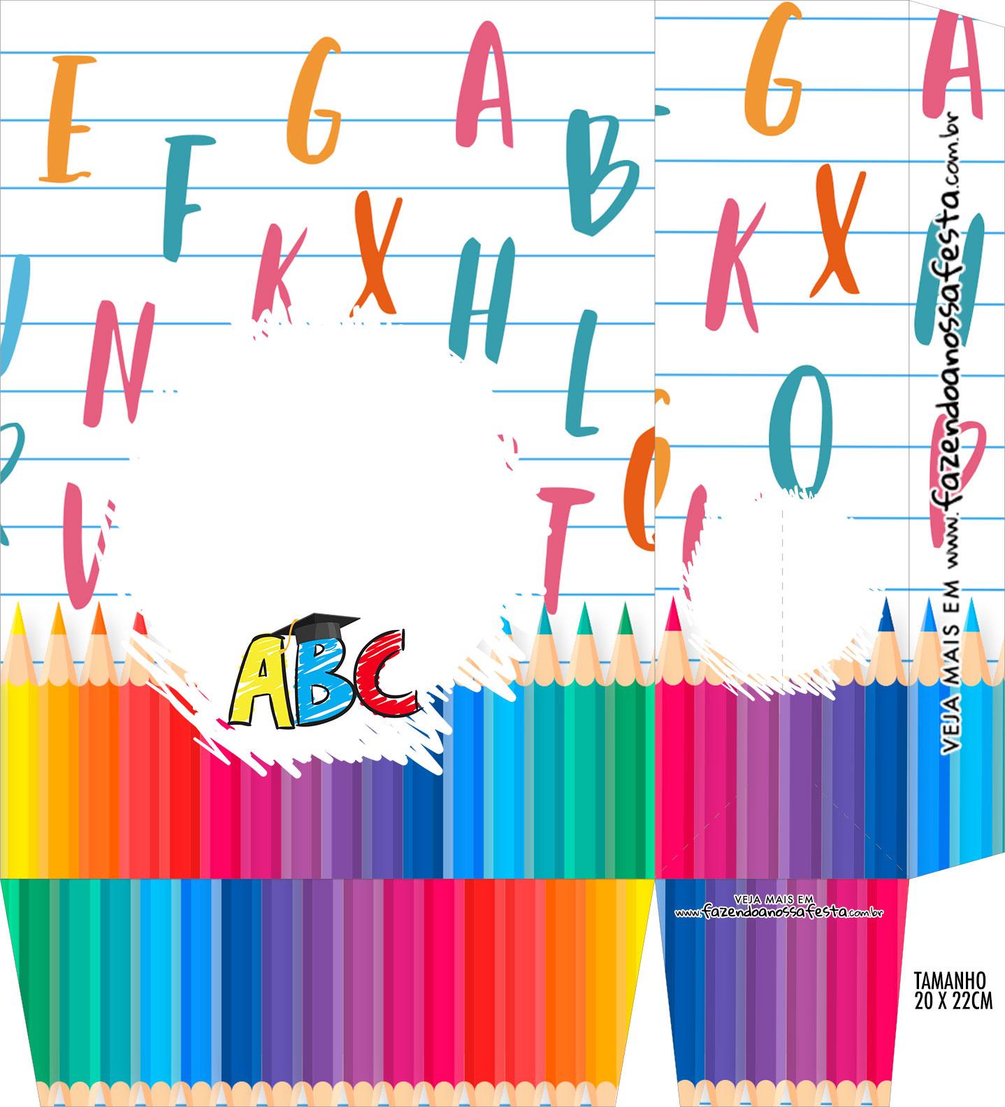 Sacolinha Supresa Festa Kit Festa Formatura ABC