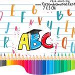Topper Bandeirinha Formatura ABC