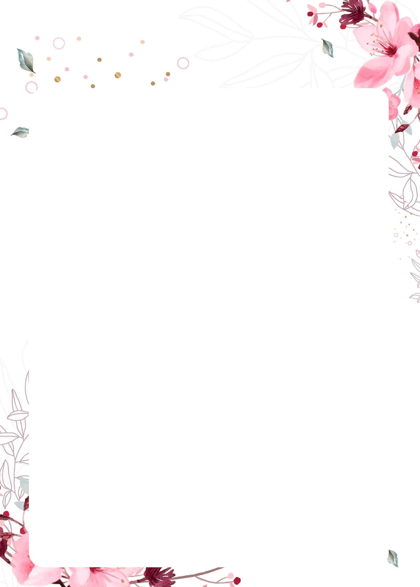 planner floral pagina em branco