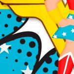 10 Painel Redondo Mulher Maravilha Cute