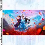 Adesivo Bala Personalizada Kit Festa Frozen 2