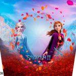 Adesivo Balde de Pipoca Kit Festa Frozen 2