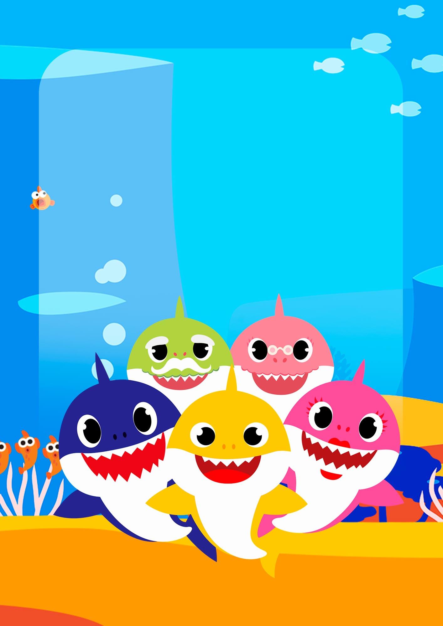 Adesivo para Capa de Caderno Baby Shark
