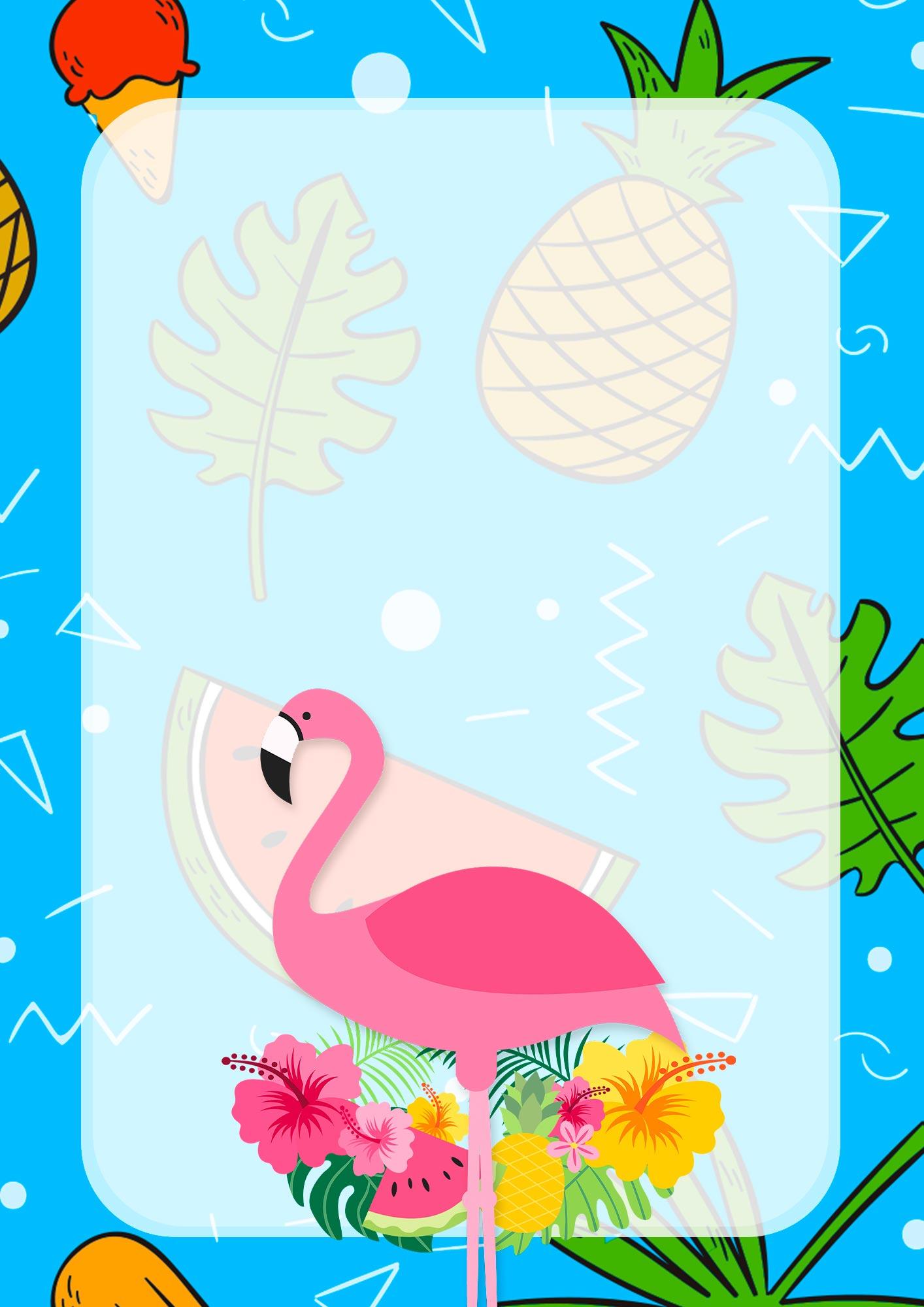 Adesivo para Capa de Caderno Escolar Flamingo