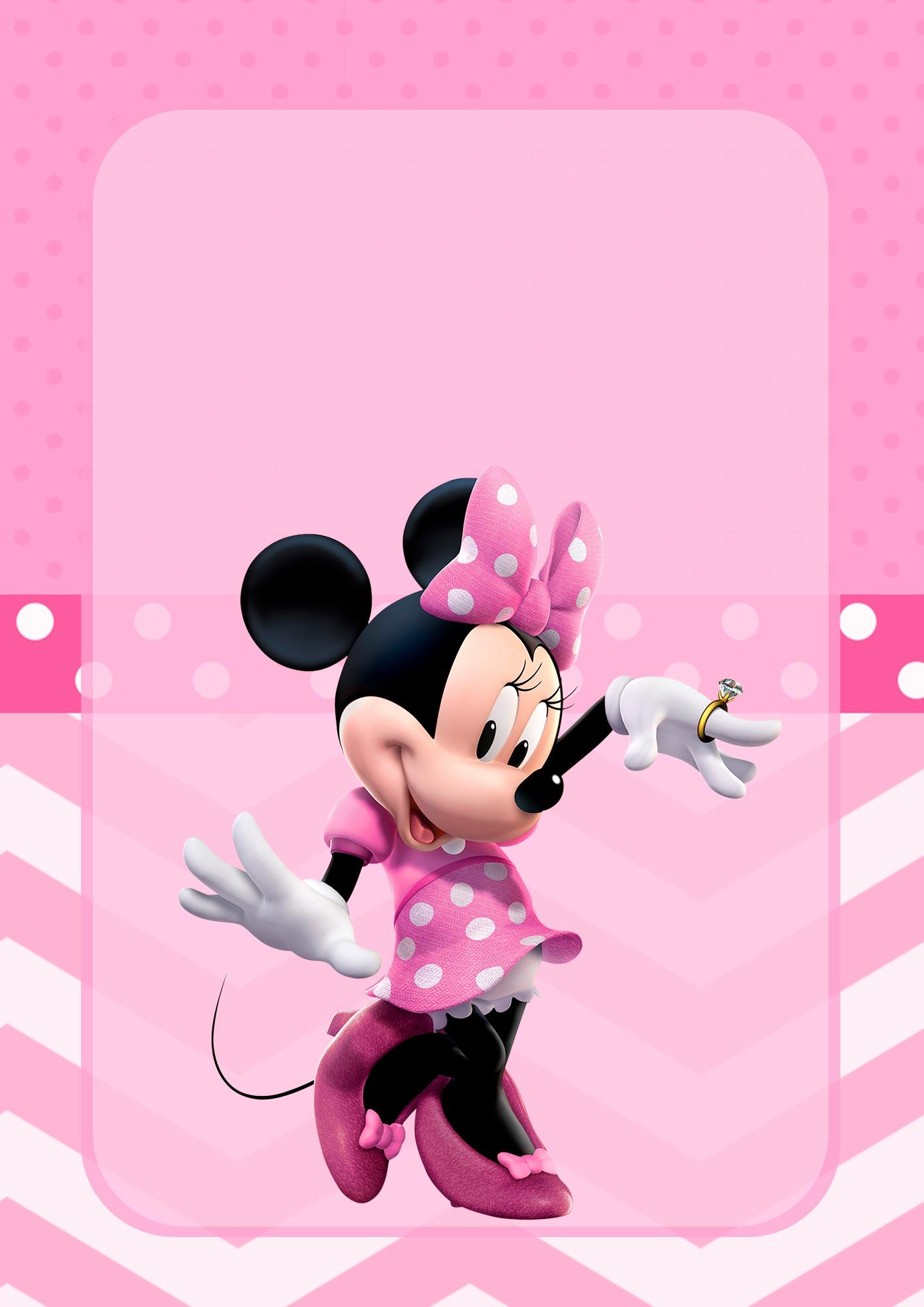 Adesivo para Capa de Caderno Minnie Rosa