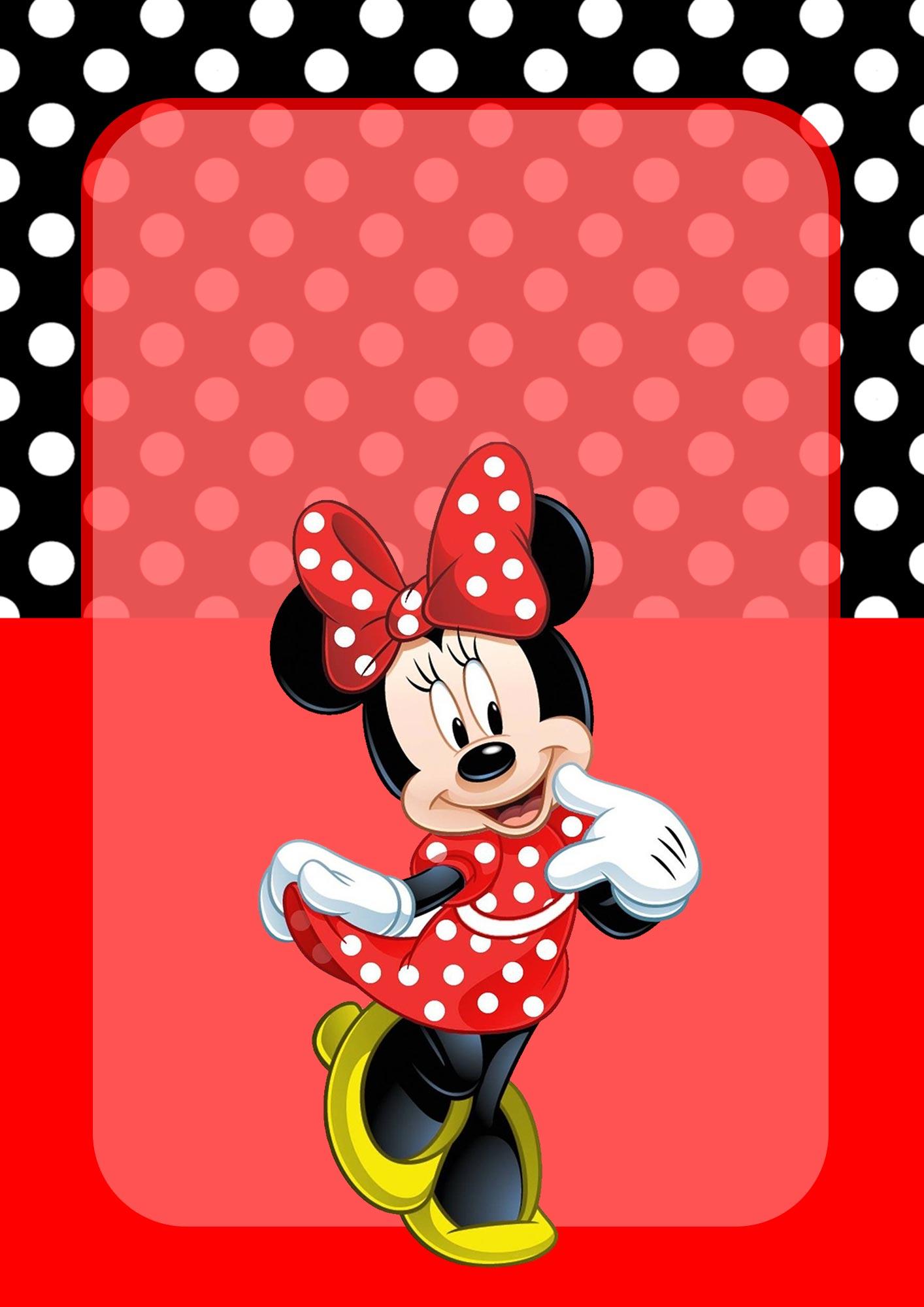 Adesivo para Capa de Caderno Minnie Vermelha