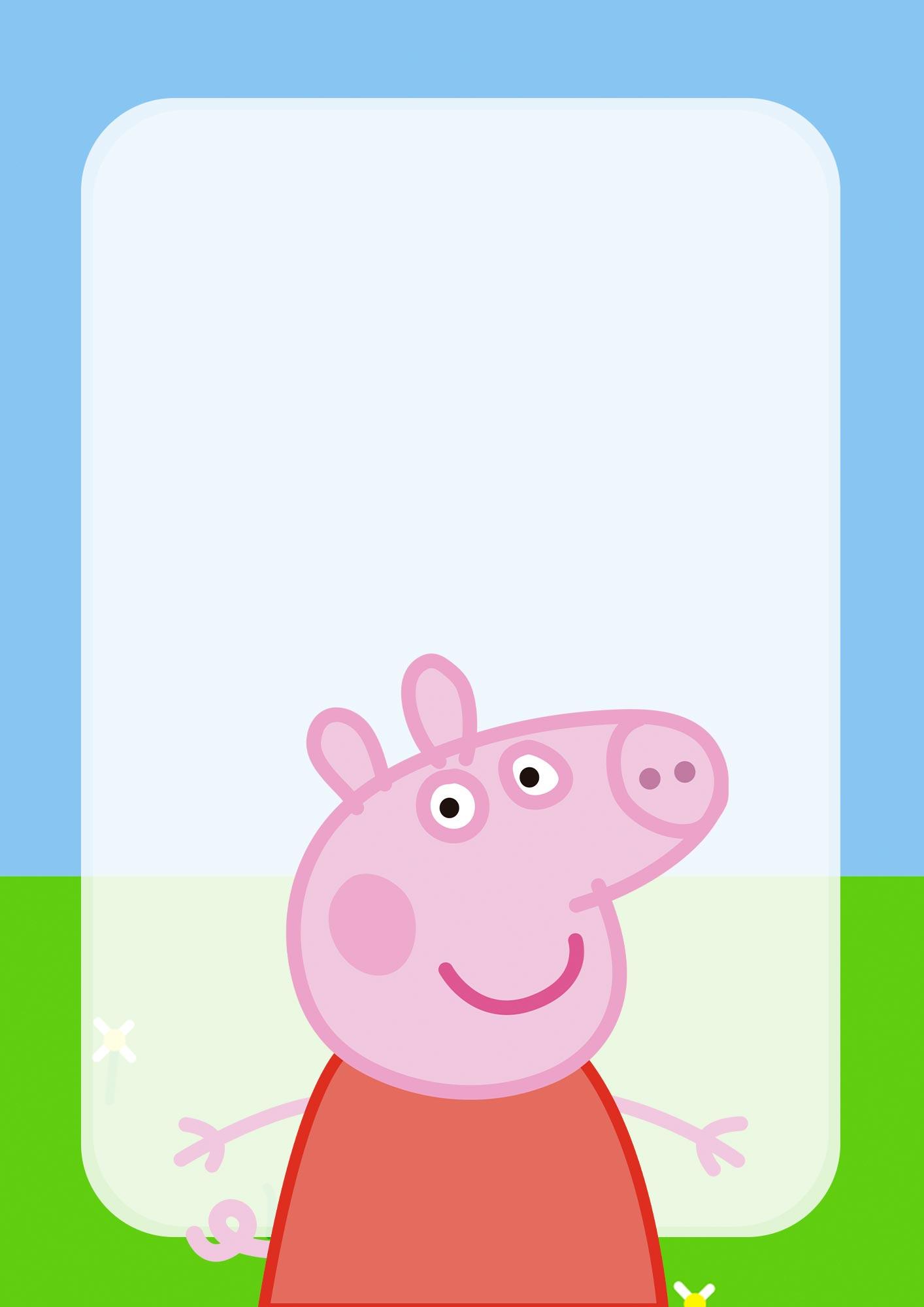 Adesivo para Capa de Caderno Peppa Pig