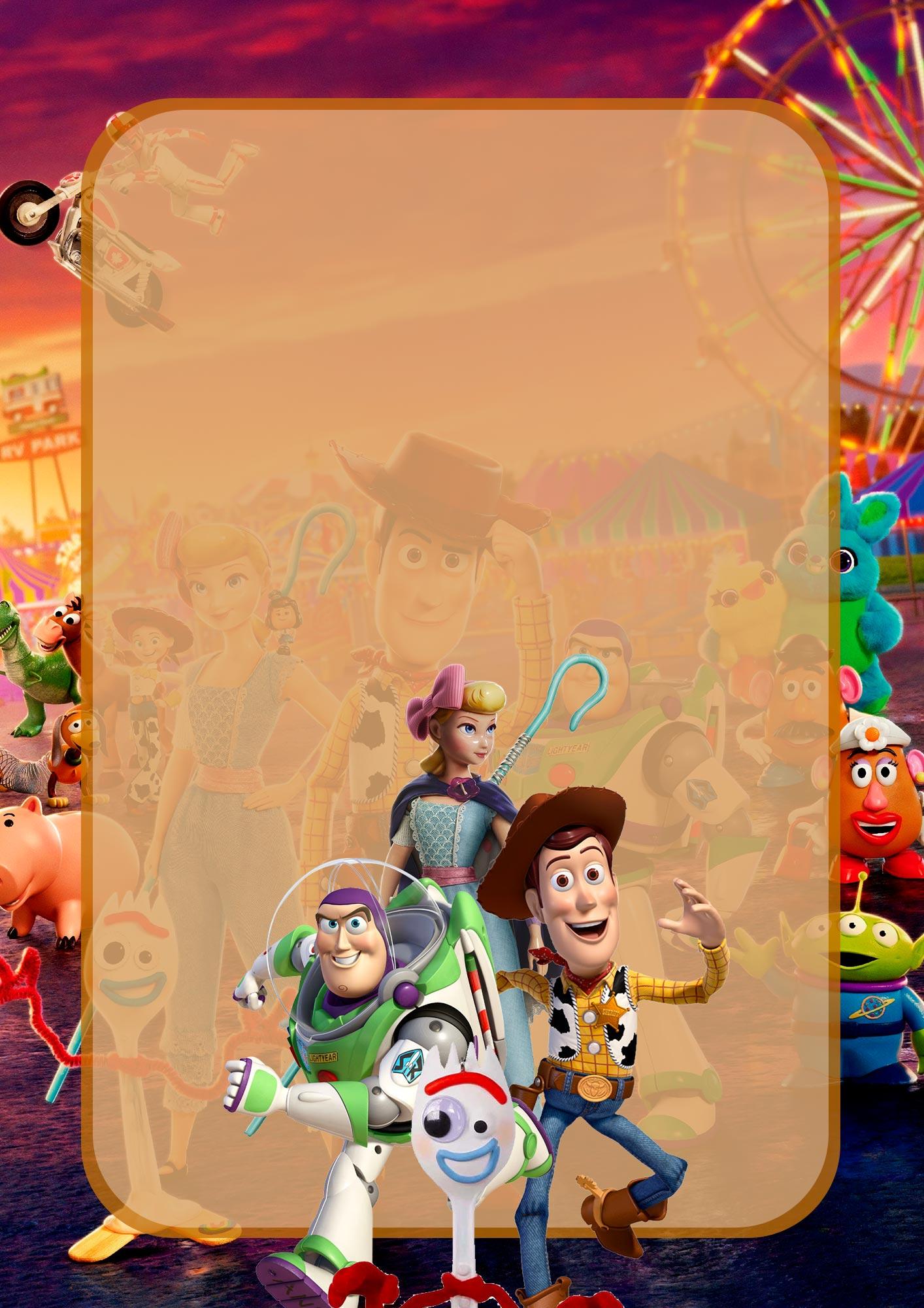Adesivo para Capa de Caderno Toy Story 4