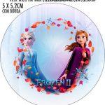 Adesivo para tubetes Frozen 2