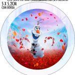 Adesivo redondo personalizado Frozen 2