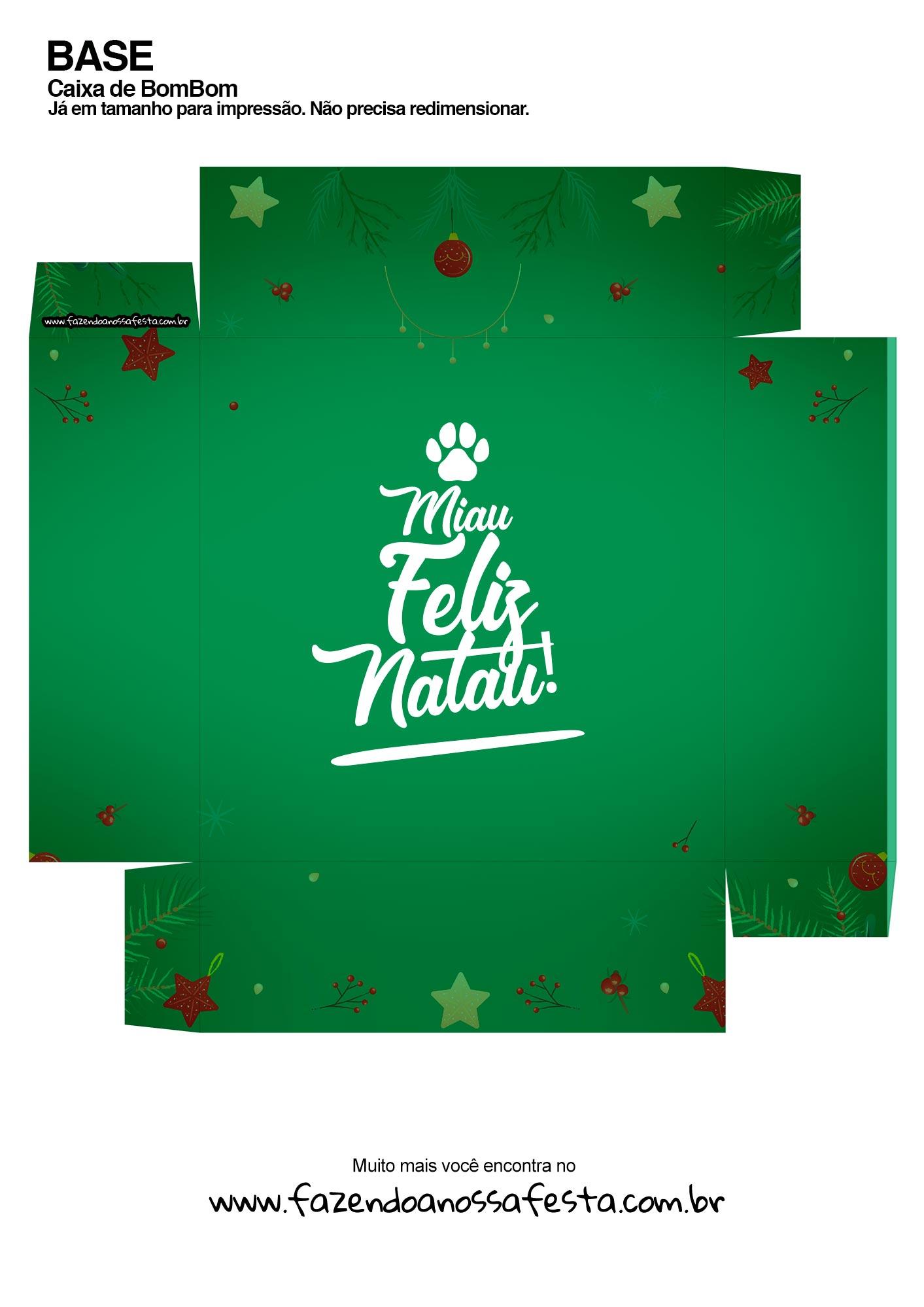 Caixa Gatinhos Natal Laranja base